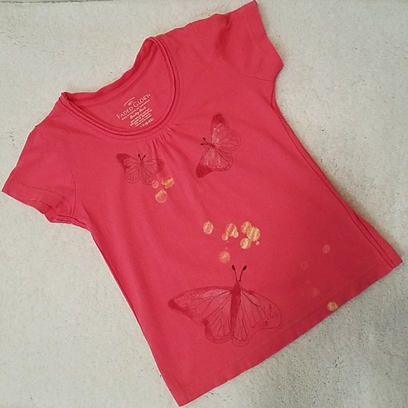 Faded Glory Other - *5 For $20* Faded Glory Coral Butterfly Top